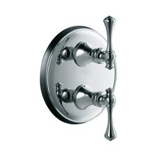 Revival Stacked Valve Trim with Traditional Lever Handles, Valve Not Included