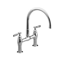 Parq Deck-Mount Kitchen Bridge Faucet