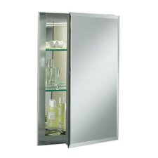"Single Door 16""W X 20""H X 5""D Aluminum Cabinet with Mirrored Door"