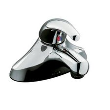 "Coralais Single-Control Centerset Lavatory Faucet with Ground Joints, 0.5 GPM Spray, Grid Drain and 3-1/4"" Lever Handle"