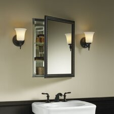 Aluminum Cabinet with Oil-Rubbed Bronze Framed Mirror Door