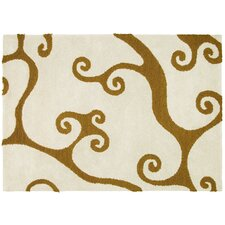 Hand Tufted Ondas White Rug