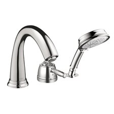Swing C Single Handle Dual Function Roman Tub Faucet and Hand Shower