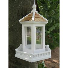 Gazebo Bird Feeder in Victorian White