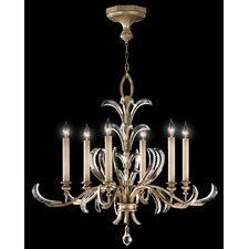 Beveled Arcs 6 Light Chandelier