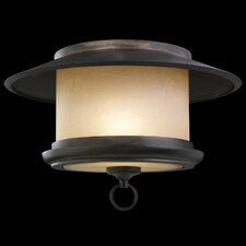 East-West Passage 1 Light Outdoor Flush Mount