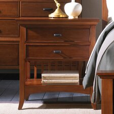 Modern Shaker 2 Drawer Nightstand