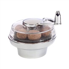 3.25'' Chrome Nut Twister Nutmeg Mill
