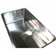 "Kubus 28.75"" x 17.31"" Single Bowl Kitchen Sink"