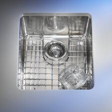 "Kubus 17.31"" x 14.31 Single Bowl Kitchen Sink"