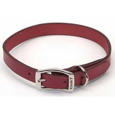 Pet Oak Tanned Leather Collar in Red
