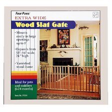 Vertical Wood Slat Pet Gate