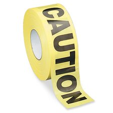 "Barricade Tape, ""Caution"", 3""x1000', Yellow/Black"