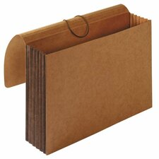 "Accordion Wallets, Letter, 8.5"" x 11"", 5.25"" Expansion, Brown"