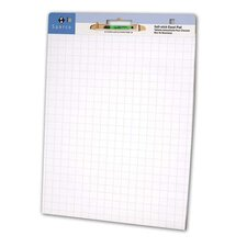 "Self-stick East Pad, 1"" Grid, 30 Sheets, 2/CT, White"