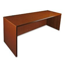 88000 Series Rectangular Executive Desk with Fluted Edge