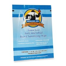 Hand Sanitizer Wipes, Low-Alcohol, 100 per Carton, Lemon Scent