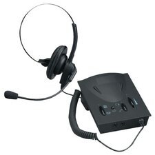 Compucessory Lg. Earpad Amplifier/Headset Kit, Black