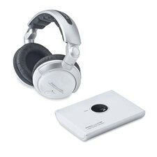 Compucessory 2.4 GHz Wireless Headphones, White