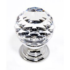 "Swarovski Crystal 1.18"" Crystal Spherical Knob"