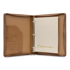 J Hartmann Reserve Zip Three-Ring Binder in Natural