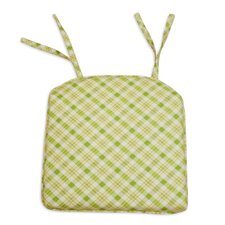 Chit Chat Cotton S-Backed Pleated Foam Seat Cushion