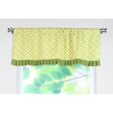 Chit Chat Linen Rod Pocket Ruffled Curtain Valance