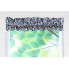 Cornell Cotton Sleeve Topper Rod Pocket Ruffled Curtain Valance