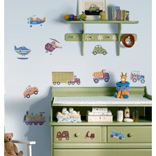 Transportation Peel and Stick Wall Sticker