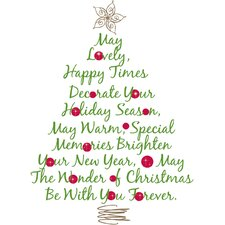 Seasonal Christmas Tree Quote Peel and Stick Giant Wall Decal
