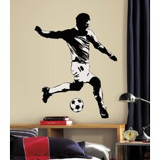 Studio Designs Soccer Player Peel and Stick Giant Wall Decal