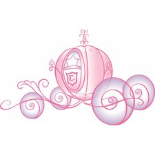 Licensed Designs Princess Carriage Peel and Stick Giant Wall Decal