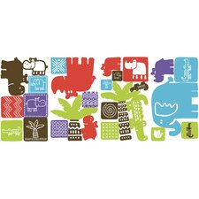 Safari Blocks Wall Decal