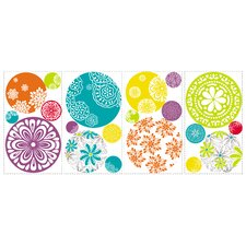 20-Piece Patterned Dots Wall Decal