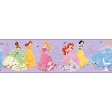 Dancing Princess Border in Purple Background