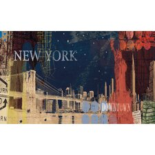 New York Street Chair Rail Prepasted Wall Mural