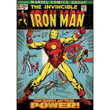 Iron Man Peel and Stick Comic Book Cover Wall Decal