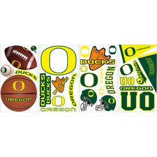 26-Piece University of Oregon Peel and Stick Wall Decal