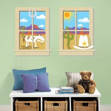 Old West Peel and Stick Window Wall Decal