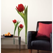 3-Piece Tulip Peel and Stick Wall Decal