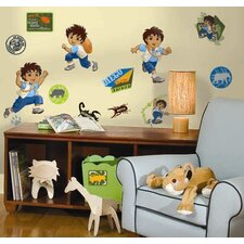 35-Piece Nickelodeon Go Diego Go! Peel and Stick Wall Sticker