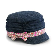 Kids' Denim Rouched Cap