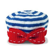 Kids' Nautical Stripe Crochet Beret Hat