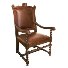Diego Hardwood Leather Arm Chair