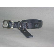 Double Thick Nylon Deluxe Dog Collar in Gray