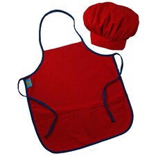 Doodlebugz Crayola Chef Hat and Apron Set in Red
