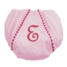 Garden Princess Pique Diaper Cover in Light Pink with Hot Pink Trim