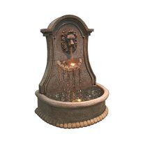 Lucerne Lions Head Electric Fountain with LEDs