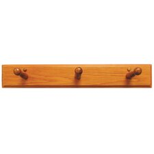 Rustic Oak Triple Robe Hook