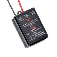 60W 12V Class II Remoted Electronic Transformer in Black